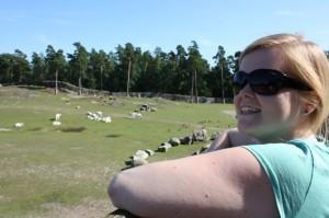 Susanna watching animals in Kolmården.