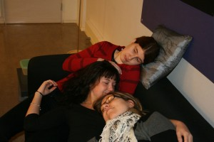 Anna, Elisabeth and I were tired after the hard work with the term project.