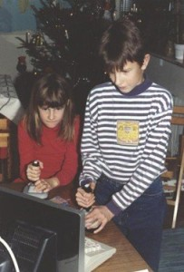 Me, my brother and the C64.